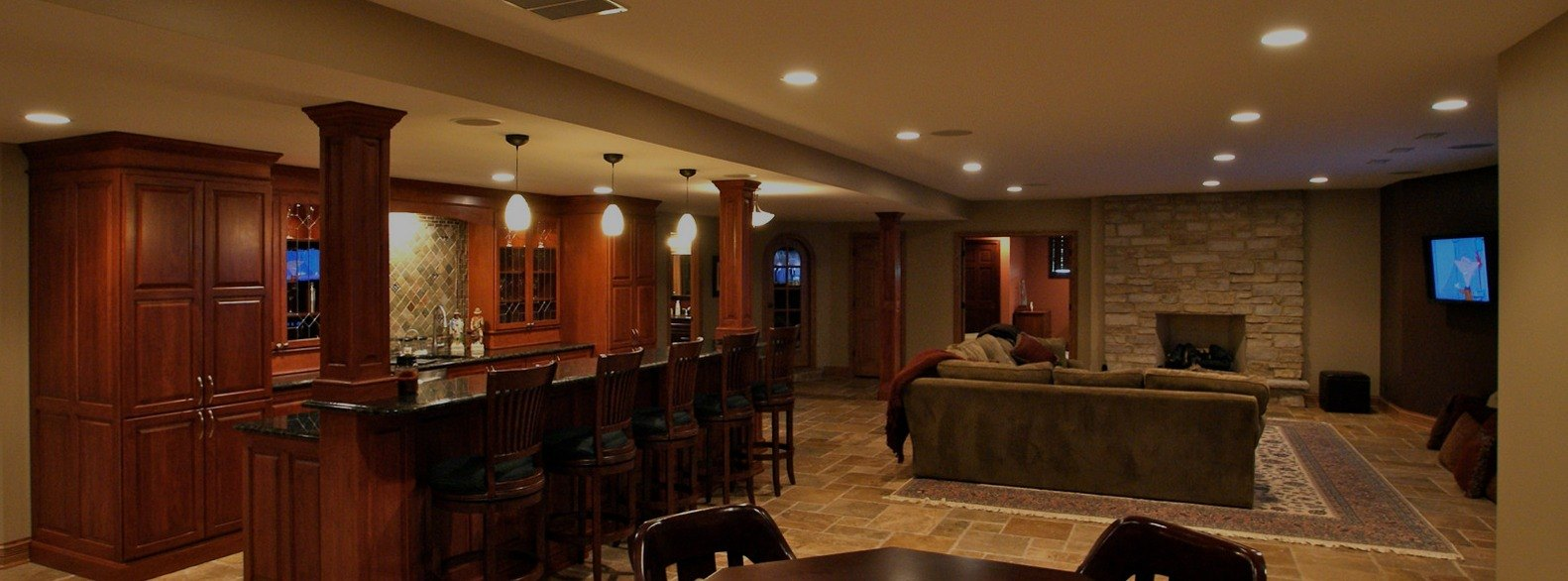 Go Pro Construction Custom Homes - finished basement