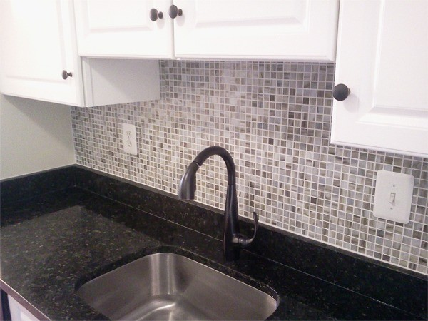 Go Pro Construction kitchen sink and backsplash