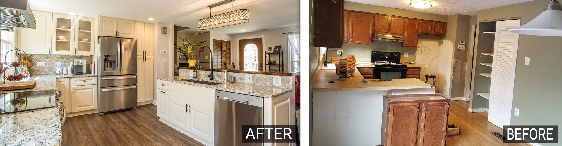 Before & After Go Pro Construction kitchen remodel